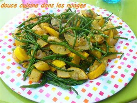 cuisiner courgette jaune recettes de salicorne et po 234 l 233 e