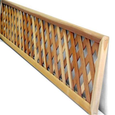 mendocino lattice redwood privacy framed common 1 3 8 in