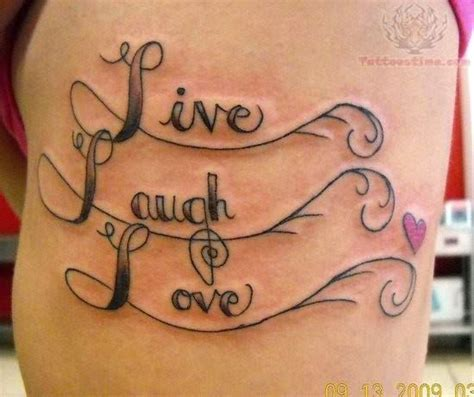live love laugh tattoo designs live laugh design on back