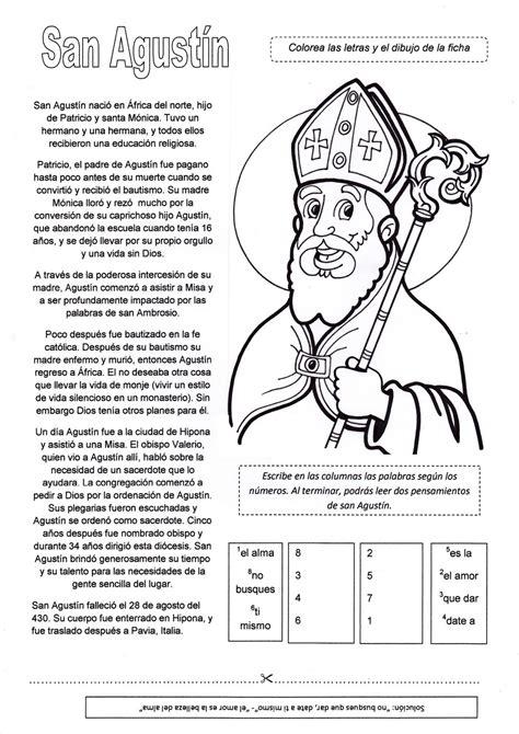 preguntas de la historia y la filosofia rosario santa m 243 nica y san agust 237 n actividades para ni 241 os