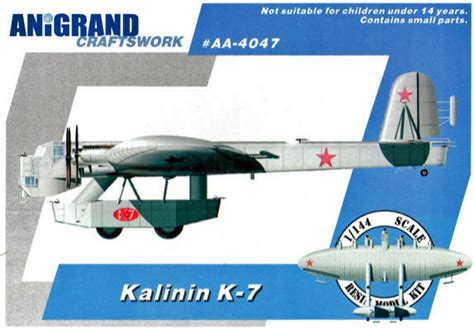 Home Plane by Kalinin K 7 1 144 Model Kit By Anigrand Craftswork