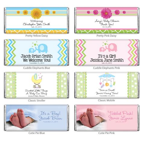 chocolate for baby shower baby shower personalized hershey chocolate bar baby