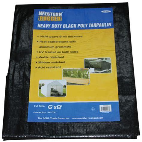 western rugged western rugged tarp 16 x 32 ft black tarps best buy canada