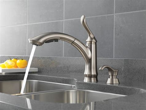 delta stainless steel kitchen faucet faucet 4353 sssd dst in stainless steel by delta