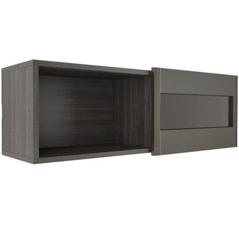 wall shelf with sliding door in espresso 102637