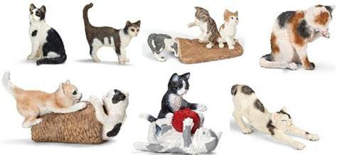 Schleich Kitten Figure toys schleich cat and kitten set seven styles of