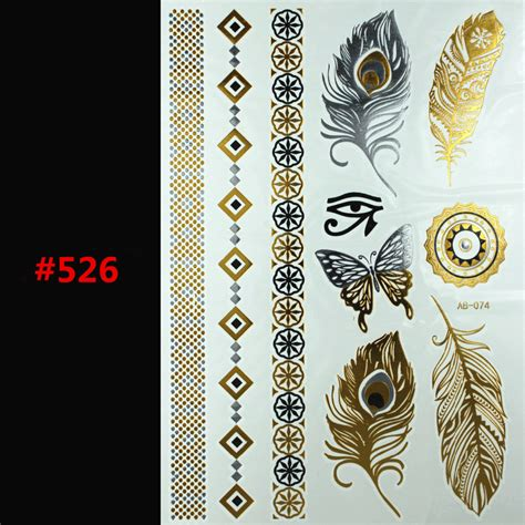 painting stickers glitter metal gold silver temporary flash disposable