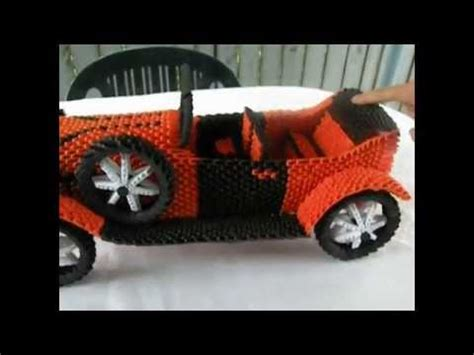 Origami 3d Car - how did create the origami green car 3d