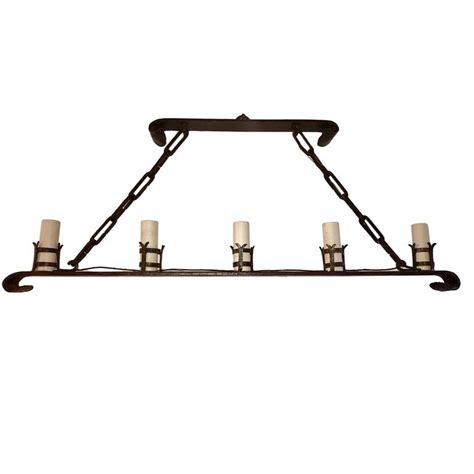 horizontal chandelier wrought iron horizontal chandelier for sale at 1stdibs
