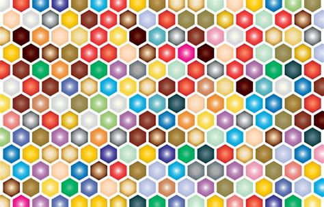 colorful pictures clipart colorful hex grid pattern
