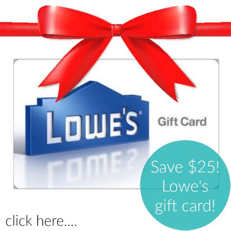 Lowes Gift Card Sale - save 25 on a lowe s gift card