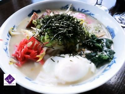 Origami Sushi Noodles - tonkotsu ramen and fried aspargus at origami uptown