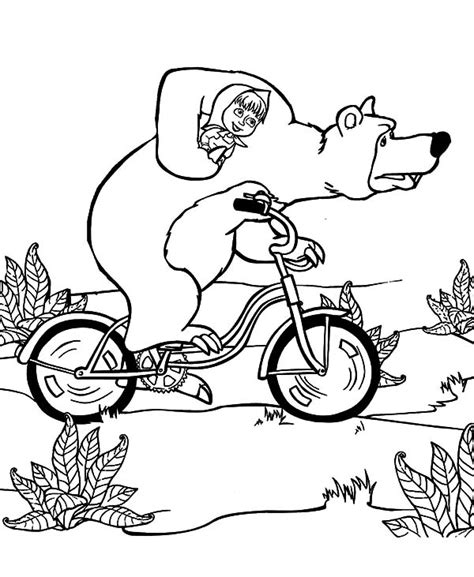 coloring pages masha and bear printable page of masha the bear by chloe free printables