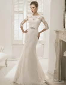 weddings dresses with sleeves beautiful wedding dresses with 3 4 sleeves cherry