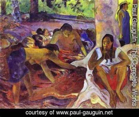 paul gauguin a complete paul gauguin the complete works the fisherwomen of tahiti paul gauguin net