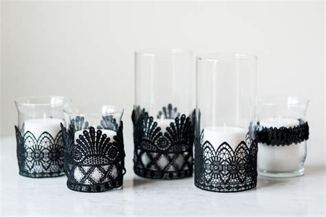 diy black lace candle holders the sweetest occasion