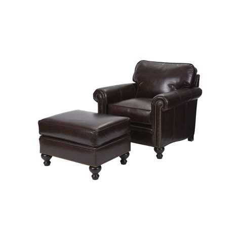 Harrison Leather Recliner Chair by Harrison Leather Chair Ottoman Sellman Furniture And
