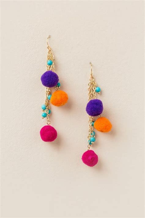 Anting Coloured Poms Tassel Earrings 238 best jewelry and accessories images on jewelry and jewelery