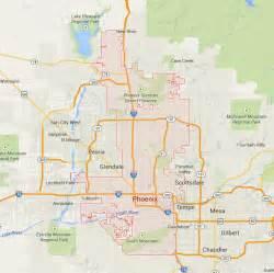 Maps Phoenix by Phoenix Arizona Map