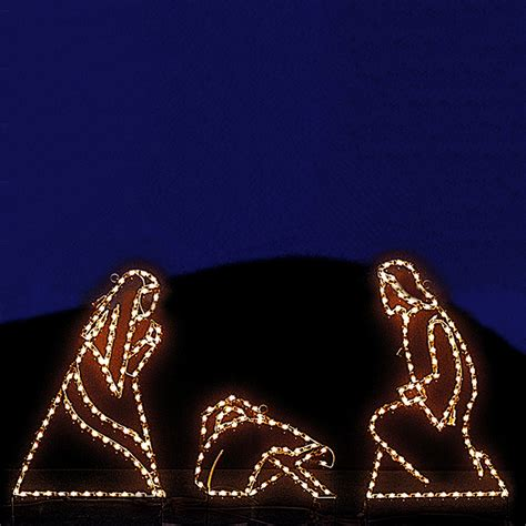 jesus outside christmas lights shop lighting specialists 3 ft small joseph and jesus outdoor decoration