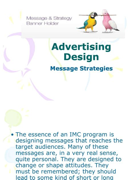 advertising layout strategy advertising design message strategies affect