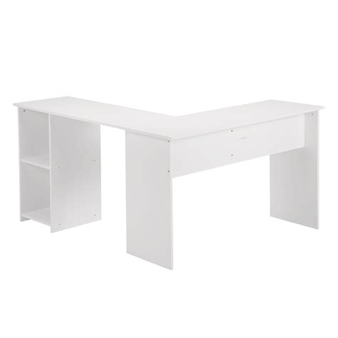 L Shaped Computer Desk Uk L Shape Corner Computer Desk Laptop Pc Table Home Office Workstation White Uk Ebay
