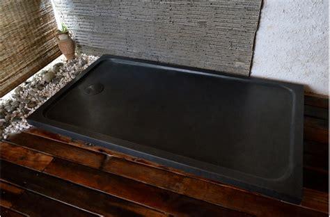 receveur de en naturelle receveur de en spacium shadow granit noir v 233 ritable 140x90