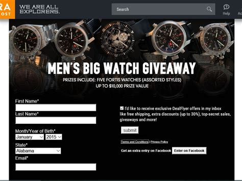 Sierra Trading Post Gift Card - sierra trading post men s big watch giveaway sweepstakes