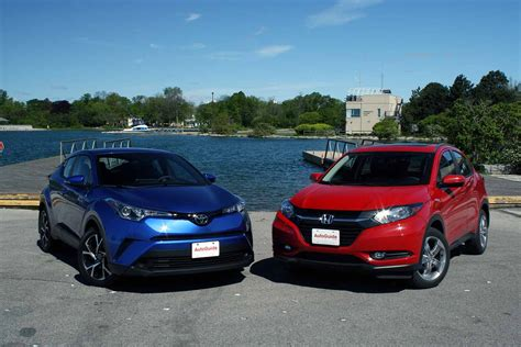 honda vs toyota 2018 toyota c hr vs 2017 honda hr v comparison autoguide