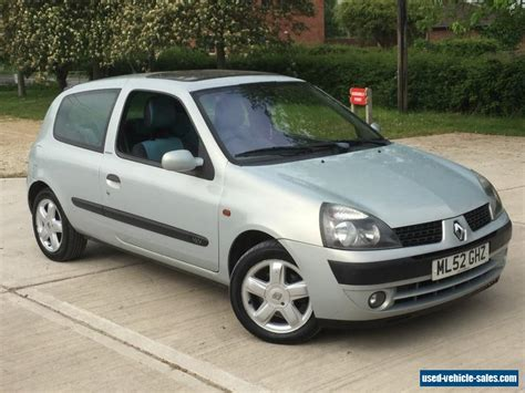renault silver 2002 renault clio extreme 16v for sale in the united kingdom