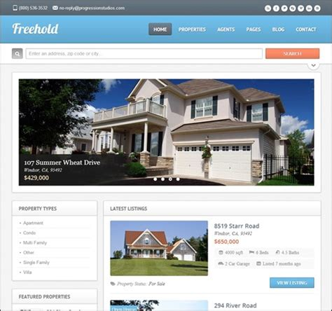 20 Top Real Estate Website Templates Make A Difference Best Real Estate Templates