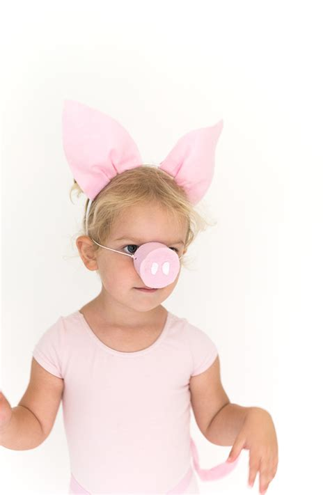 DIY Halloween Costume: Pig Ears, Nose, and Tail   Say Yes