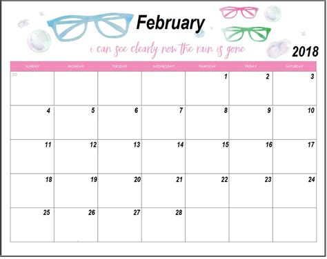 personalized calendar template 2018 february 2018 personalized calendar max calendars