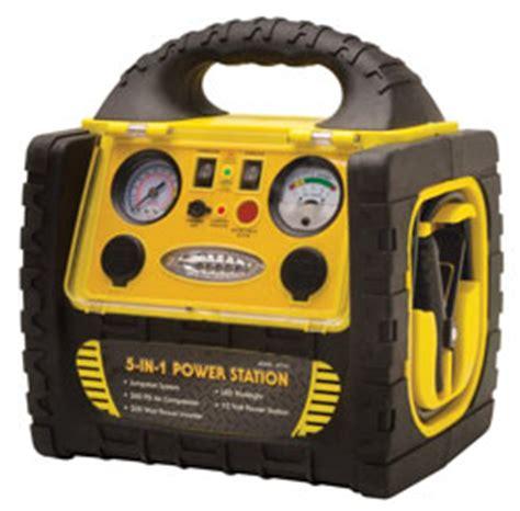 roadpro rpat715 12 volt rechargeable emergency jumpstart system w air compressor power