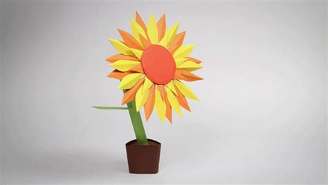 Papercraft Flower - paper craft animations by cris wiegandt