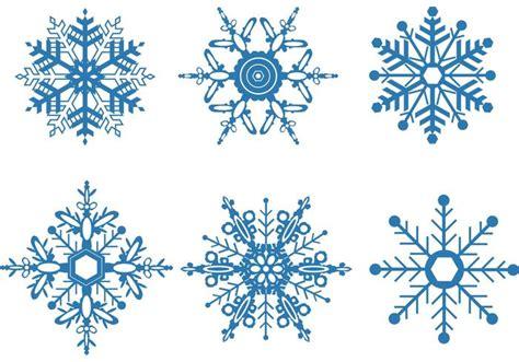 Snowflake Vector Set Free Vector Stock