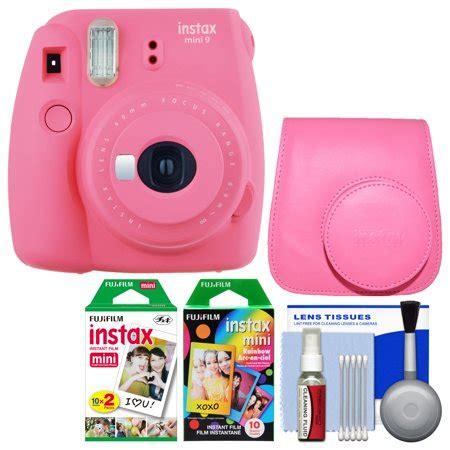 fujifilm instax mini 9 instant film camera (flamingo pink