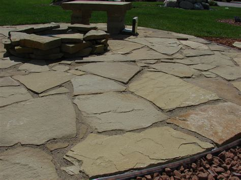backyard flagstone flagstone patio