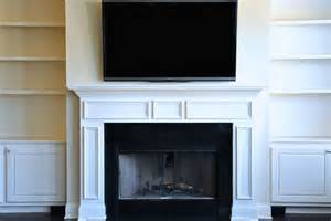 how to mount a flat screen the fireplace and hide the