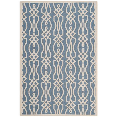 martha stewart rugs home depot safavieh martha stewart azurite 5 ft 3 in x 7 ft 7 in indoor outdoor area rug msr4220 233 5
