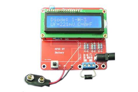 inductance capacitance meter kit diy meter tester kit for capacitance esr inductance resistor npn pnp mosfet m168 from universbuy