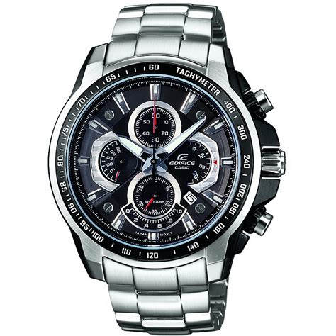 edifice casio stainless casio ef 560d 1avdf s edifice silver stainless steel