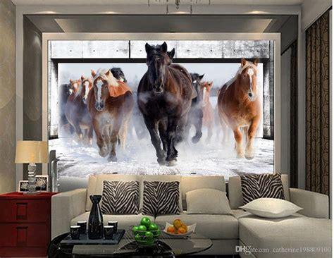 natural beautiful horse living room tv wall mural