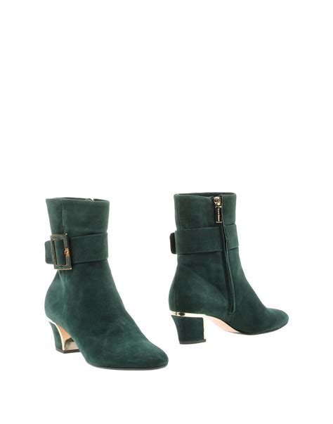 giorgio fabiani ankle boots in green lyst