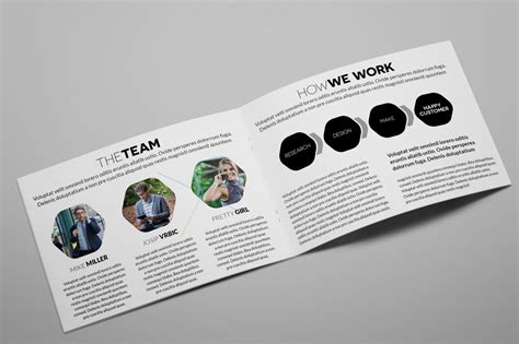 indesign template brochure a5 creative agency a5 brochure indesign brochure templates