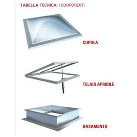 lucernario a cupola lucernario completo di basamento in acciaio zincato e