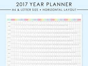 letter size 2017 horizontal year planner printable a4