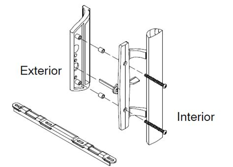 prepossessing sliding patio door parts about inspiration
