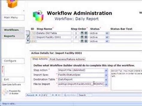 workflow access workflow builder for microsoft access demo