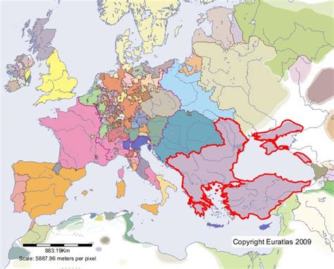 ottomans in europe euratlas periodis web map of ottoman empire in year 1500
